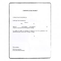 Certificat de célibat FR