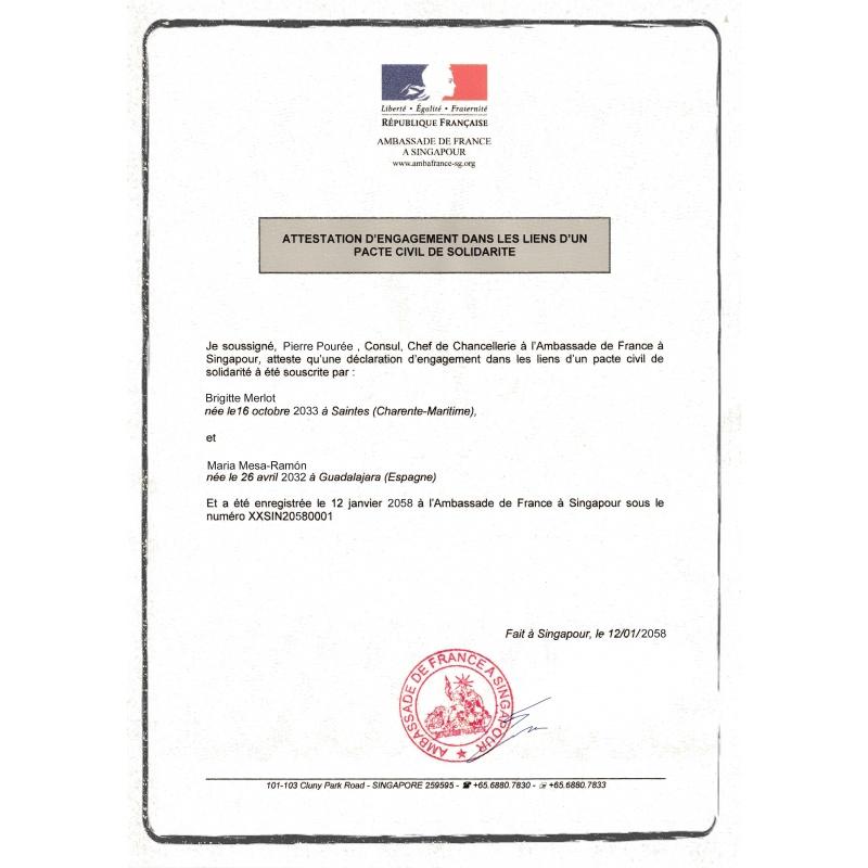 Traduction Certifiée Acte De Mariage Acstraduction Boutique En Ligne