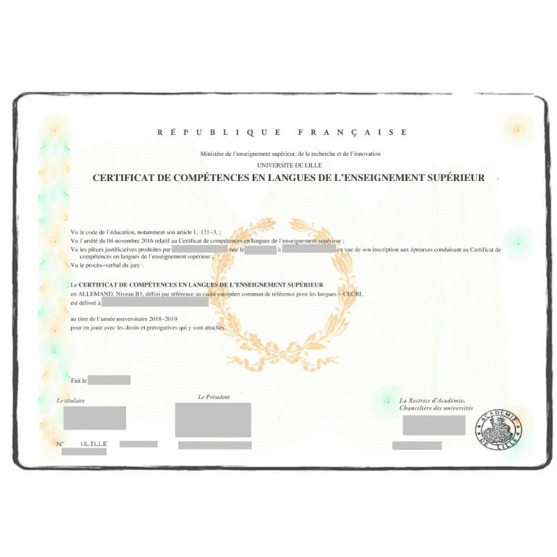 Language Certificate_FR